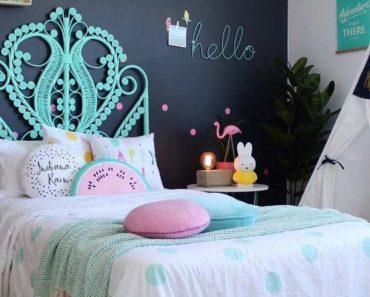 decoração de quarto feminino com lousa 3