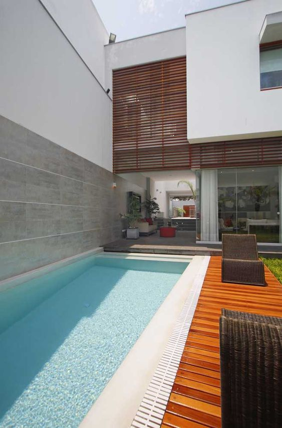 piscina pequena de fibra